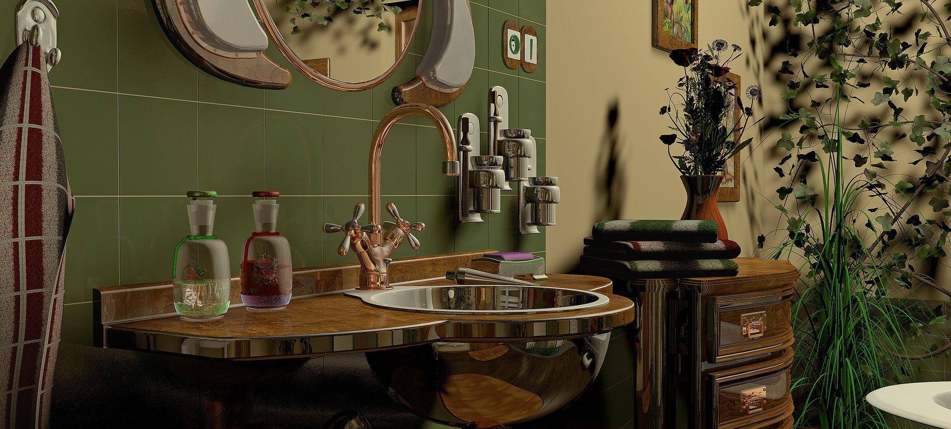 concevoir salle de bains rustique