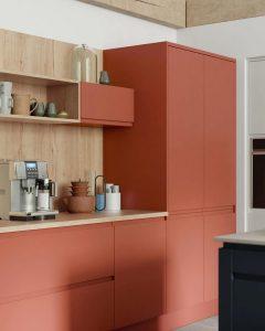 couleurs chaudes pour petite cuisine